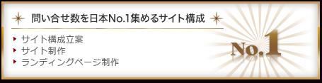 問い合わせ数を日本NO1集めるサイト構成